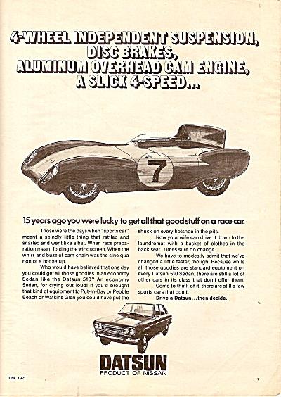 Datsun  auto ad 1971 (Image1)