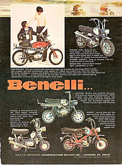 Benelli motorcycles ad 1971 (Image1)