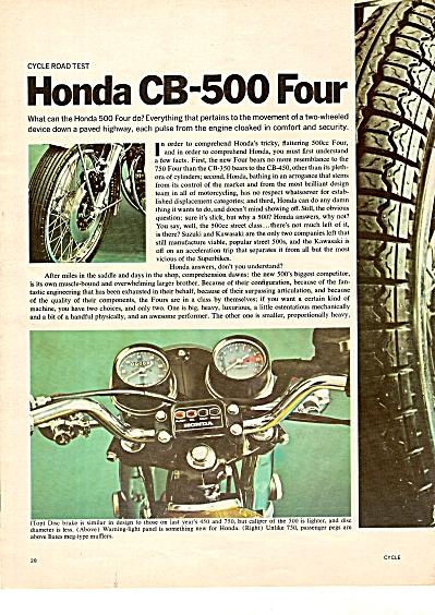 Honda CB-500four ad 1971 (Image1)