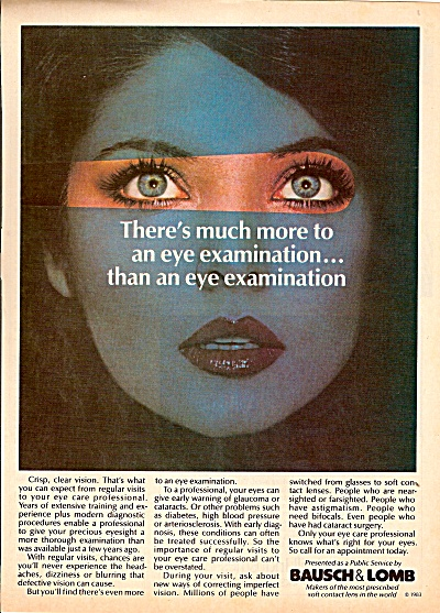 Bausch & Lomb ad 1983 (Image1)