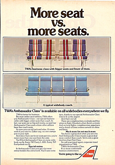 Twa Airlines Ad 1983