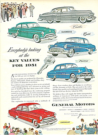General Motors automobiles ad 1951 (Image1)