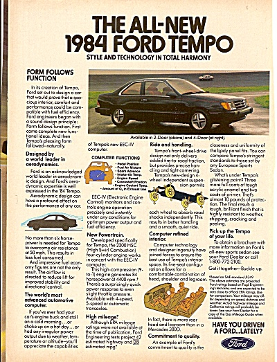 1984 Ford Tempo ad (Image1)