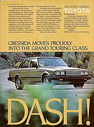Toyota Cressida auto ad 1983 (Image1)