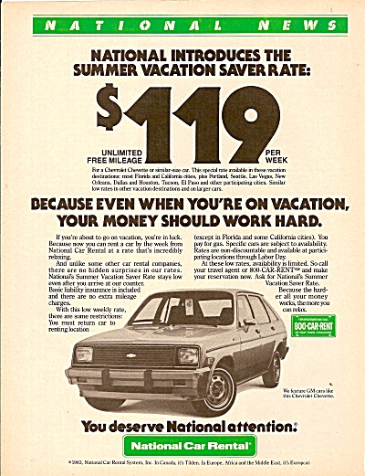 National Car Rental ad 1983 (Image1)