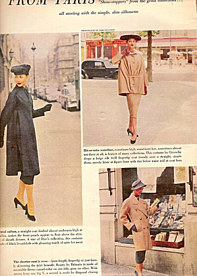 Paris clothes - Models ad 1955 (Image1)