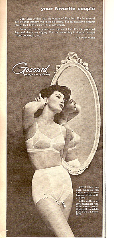 Gossard Woman's Underclothes Ad 1955