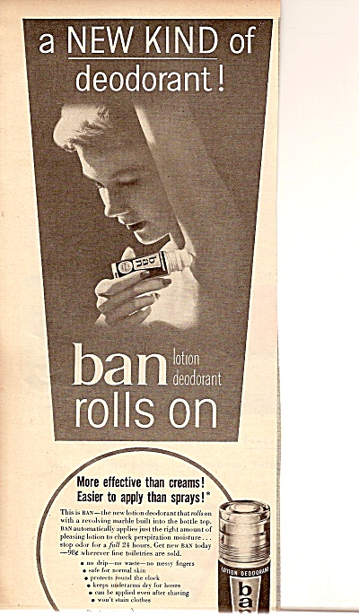 Ban roll on deodorant ad 1955 (Image1)