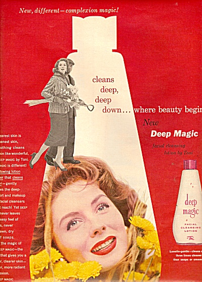Deep Magic cleansing lotion ad 1955 (Image1)