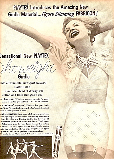 1955 BRA ~ GIRDLE AD Playtex  Sunny - Living Dancing  (Image1)