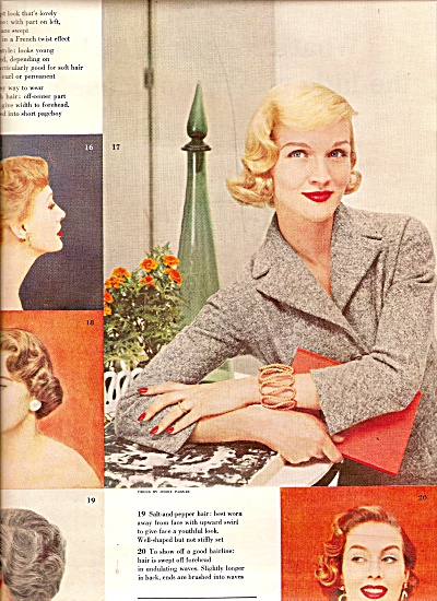 New Hairdos  - shown by MODELS  1955 (Image1)