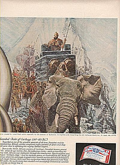BidweIser beer ad =  1977 (Image1)