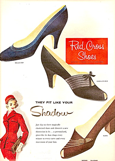 Red Cross shoes ad 1955 (Image1)