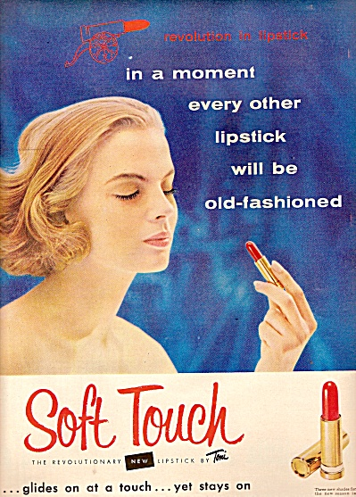 Soft Touch lipstick ad 1955 (Image1)