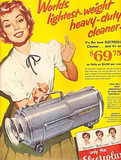 Electrolux vacuum cleaner  ad 1955 (Image1)