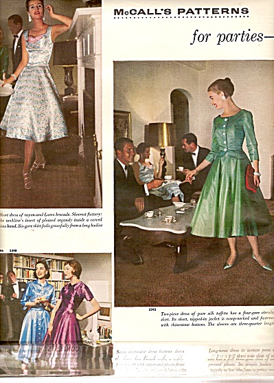 1955 4 PG McCalls Patterns FASHION MODELS Photos NEPO (Image1)