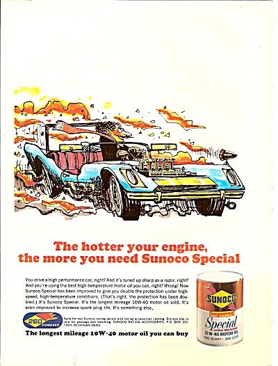 Sunoco motor oil ad 1971 (Image1)