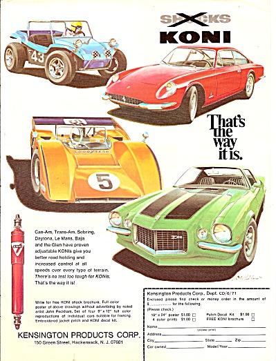 Kensington products corp.   - KONI  ad 1971 CAMARO Z28 (Image1)