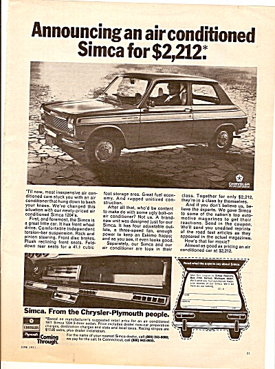 Simca automobile ad 1971 (Image1)