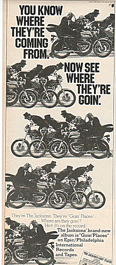 THE JACKSONS; GOIN PLACES ad 1977 (Image1)