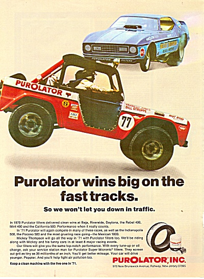 Purolator, Inc. ad 1971 Mickey Thompson Race Car (Image1)