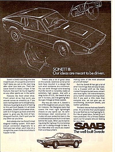 Saab Automobile ad 1971 (Image1)