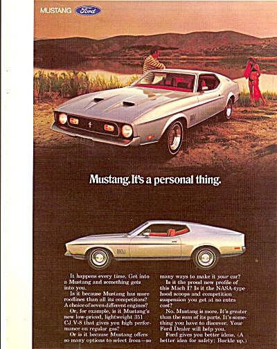 Ford Mustang auto ad 1971 (Image1)
