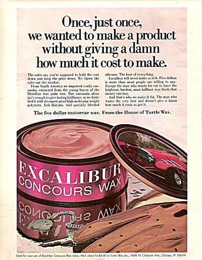 Excalibur concours wax ad 1971 (Image1)