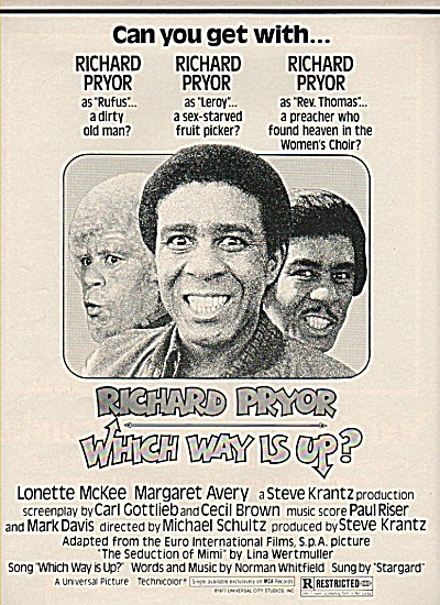RICHARD PRYOR  - Whic Way is up? ad 1977 (Image1)