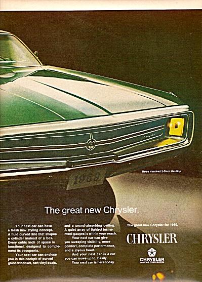 Chrysler Three Hundred auto ad 1968 (Image1)
