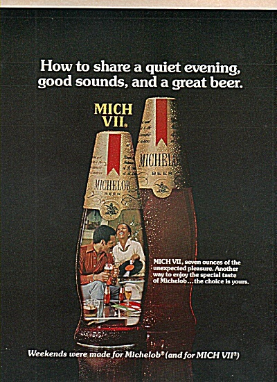 Michelob Beer Ad 1977