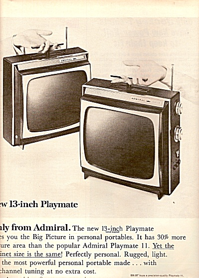 Admiral Television Ad 1964