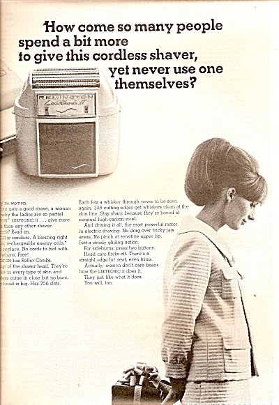 Remington Woman's Shaver Ad 1964