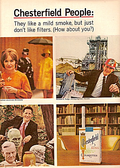 Chesterfield cigarettes ad 1964 (Image1)