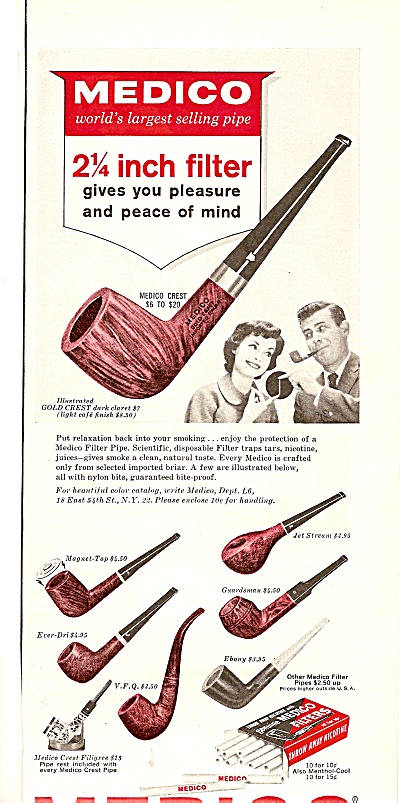 Medico filter pipes ad 1964 (Image1)