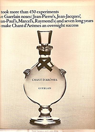 Chant D'Aromes guerlain ad 1964 (Image1)