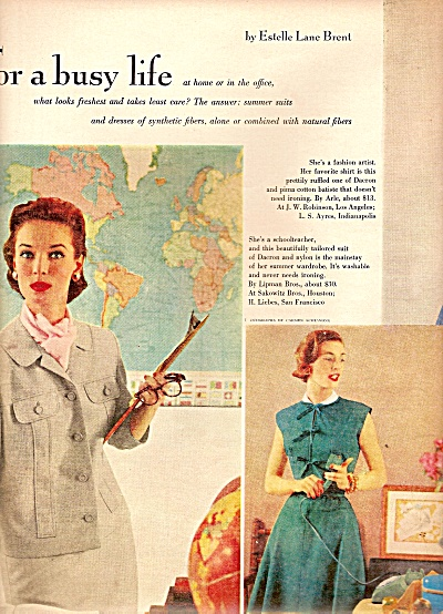 Women's clothes for a b usy life 1955 Modeled (Image1)