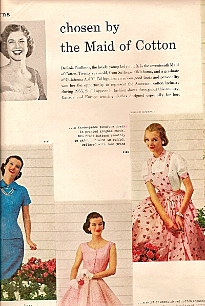 Patterns chose by the Maid of Cotton - MODELS  1955 (Image1)