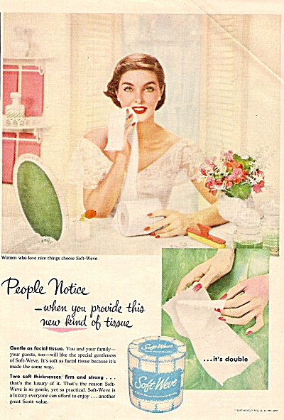 Soft weve tissues ad 1955 BEAUTIFUL LADY (Image1)
