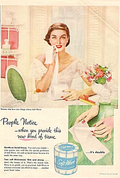 Soft weve tissues ad 1955 BEAUTIFUL LADY (Image1)