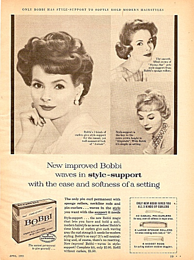 Bobbi pin curl permanent ad 1959 (Image1)