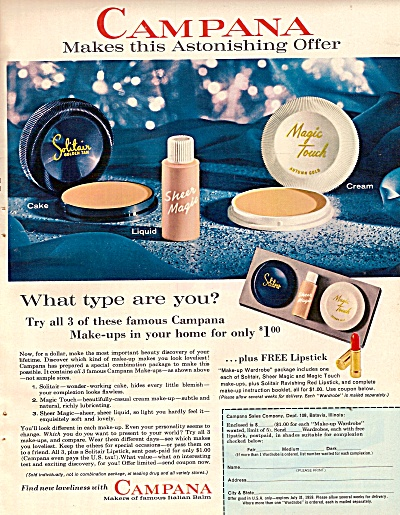 Campana make up items ad 1959 (Image1)