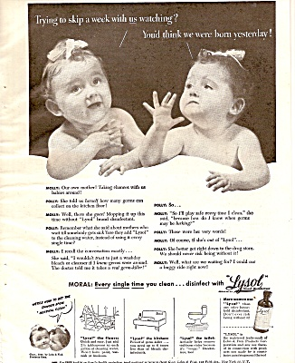 Lysol disinfectant  ad 1946 (Image1)