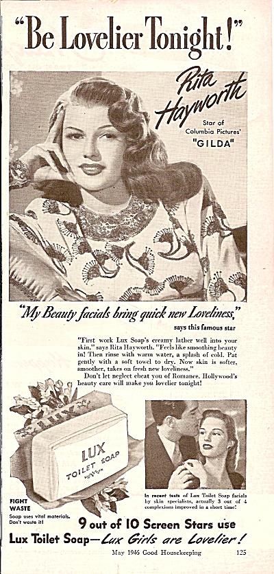 Lux soap ad -= RITA HAYWORTH  1946 (Image1)