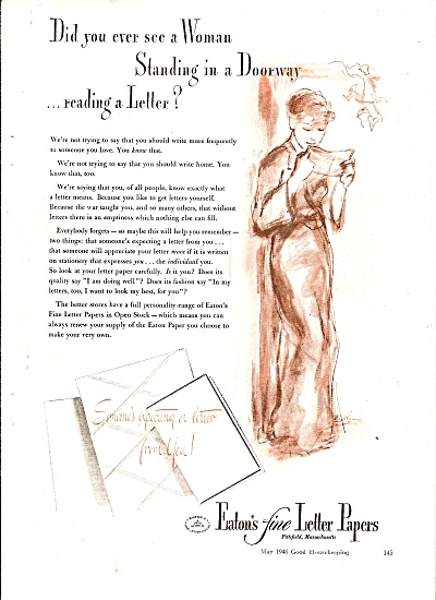 Eaton's fine letter papers ad 1946 (Image1)