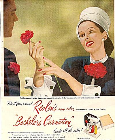 Revlon nail enamel, lipstick,face powder ad 1946 (Image1)