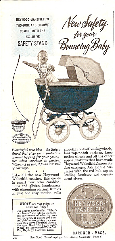 Heywood Wakefield buggies ad 1946 (Image1)