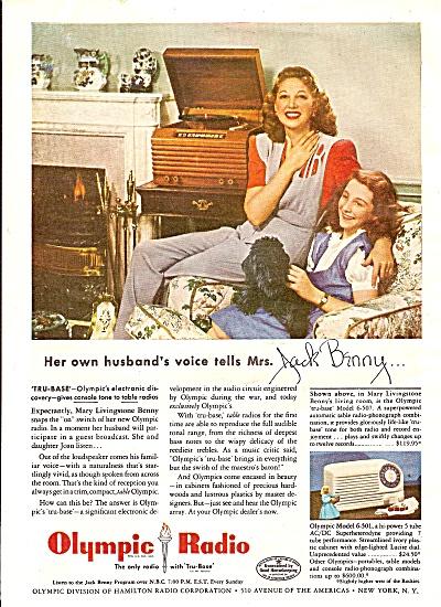 Olympic Radio - MRS. JACK BENNY =JOAN BENNY 1946 (Image1)