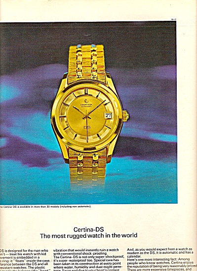 Certina Kurth Freres  watches ad 1967 (Image1)