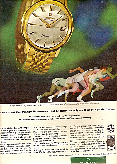 Omega watch ad 1967 (Image1)